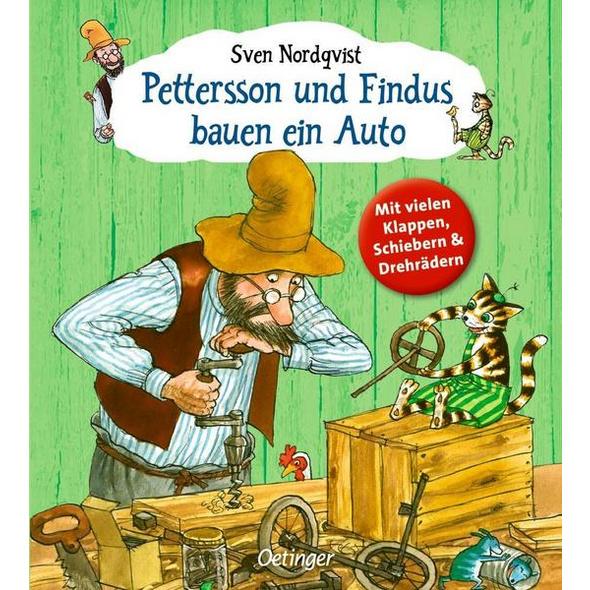 Pettersson und Findus bauen ein Auto