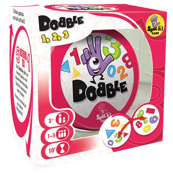 Asmodee 002964 - Dobble 1 2 3, Lernspiel, mehrfarbig