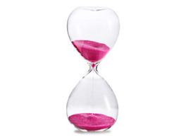 Sanduhr 'Time Out' 10 Minuten, pink
