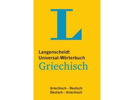 Langenscheidt Universal-Wörterbuch Griechisch - mit Tipps für die Reise
